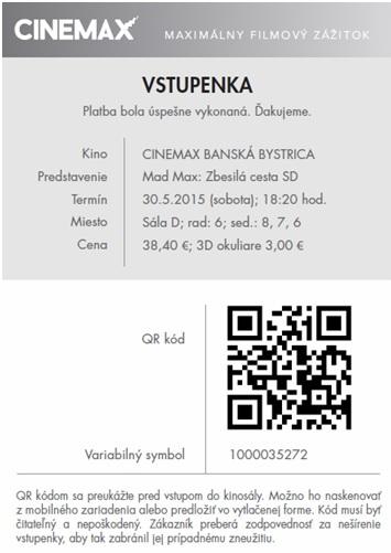 e00f17613 Všeobecné obchodné podmienky pre nákup cez internet kín CINEMAX